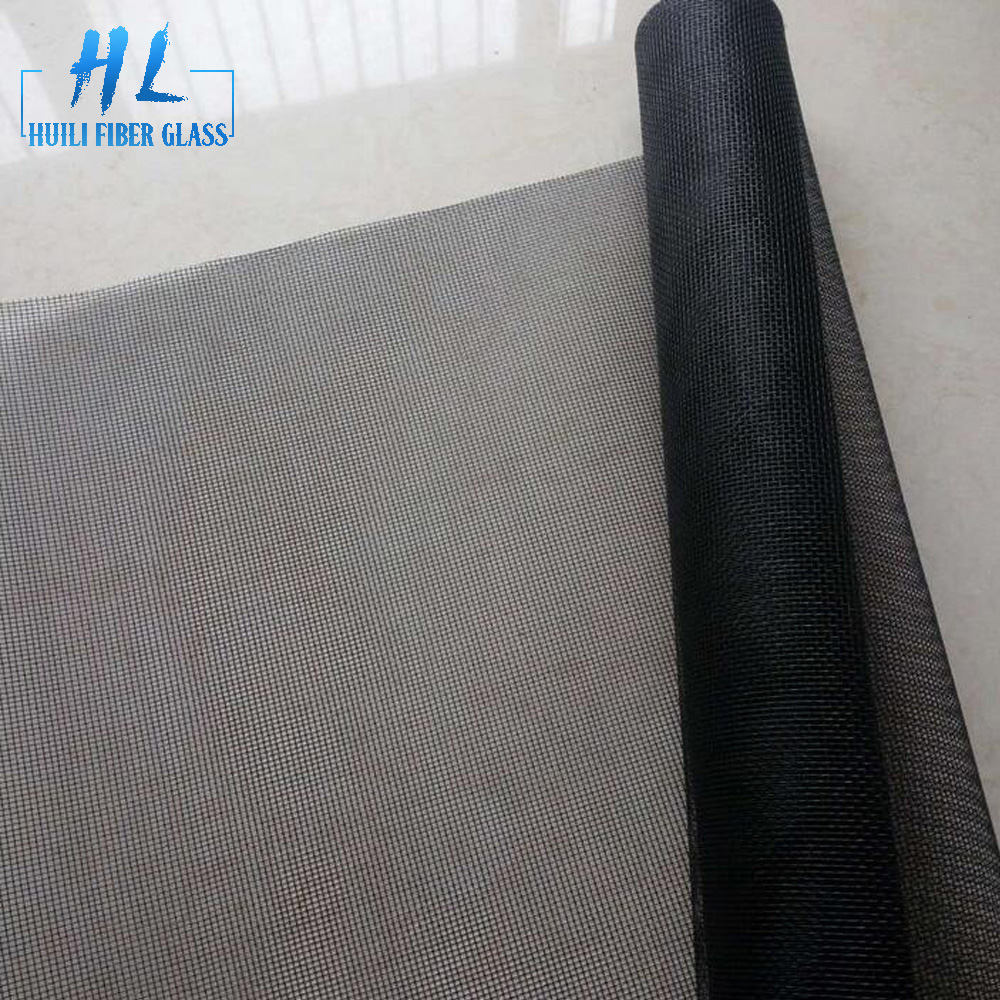 0.9m wide high quality black pvc coated anti fly mosquito fiberglass insect netting