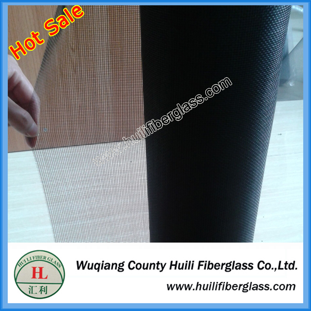 1.2m wide Black PVC Coated Fiberglass Screen Cloth 100 Foot Roll