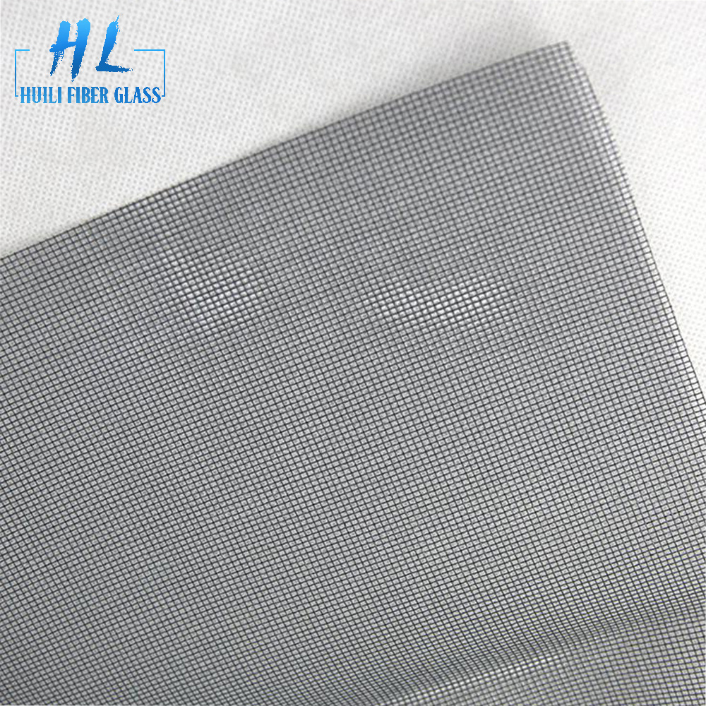 1.4m wide gray pvc coated fiberglass insect screen for window