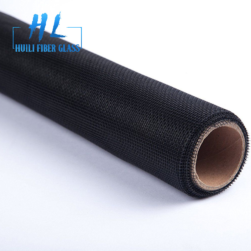 110g black color fiber glass insect fly screen