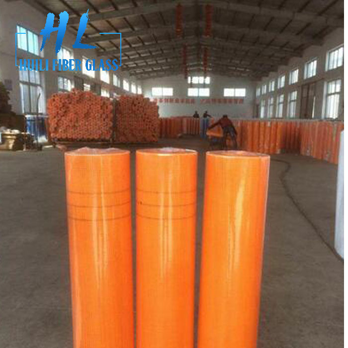 160g 4x4mm Orange Fiberglass Mesh for reinforcement