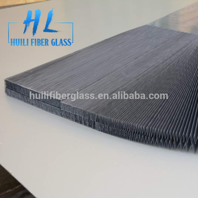 Lowest Price for Low Price Fiberglass Mesh - 16mm folding height DIY PP material Polyester pleated insect door screen – Huili fiberglass