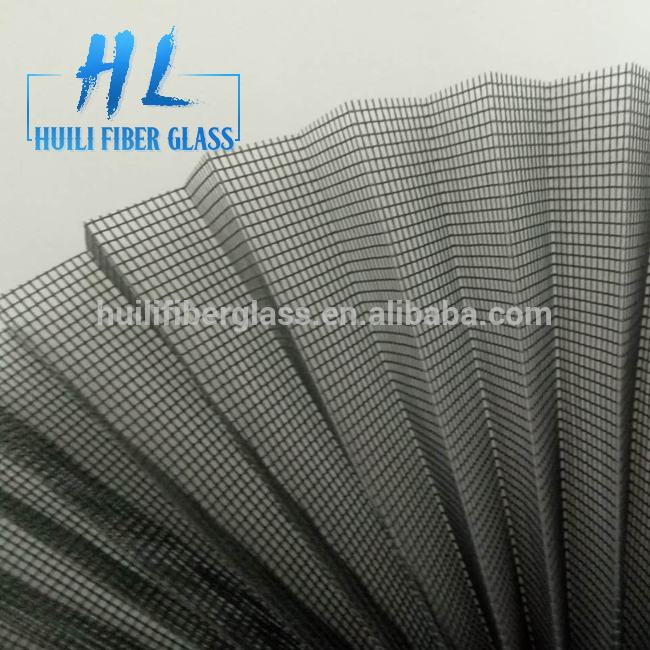 16mm Mosquito Waterproof Plisse Insect Screen/Polyester Pleated mesh/Folding Net