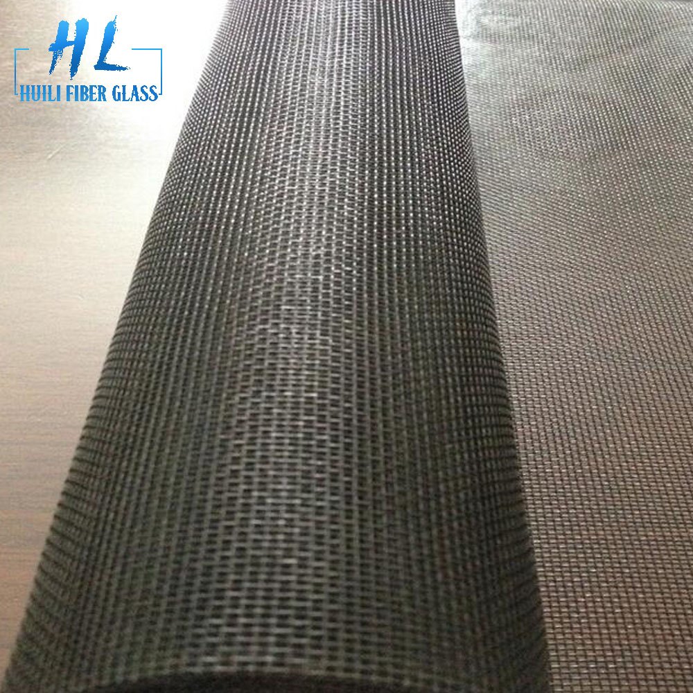 18 x16 mesh gray color coated fiberglass window screen for mosquito net