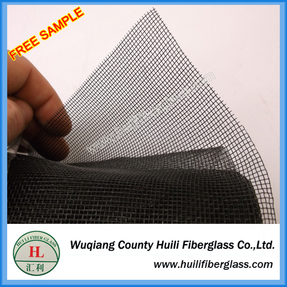 18*14 mesh black color pet proof insect screen material