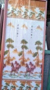 Polyester printed pleated mesh plisse insect screen for window screen and door