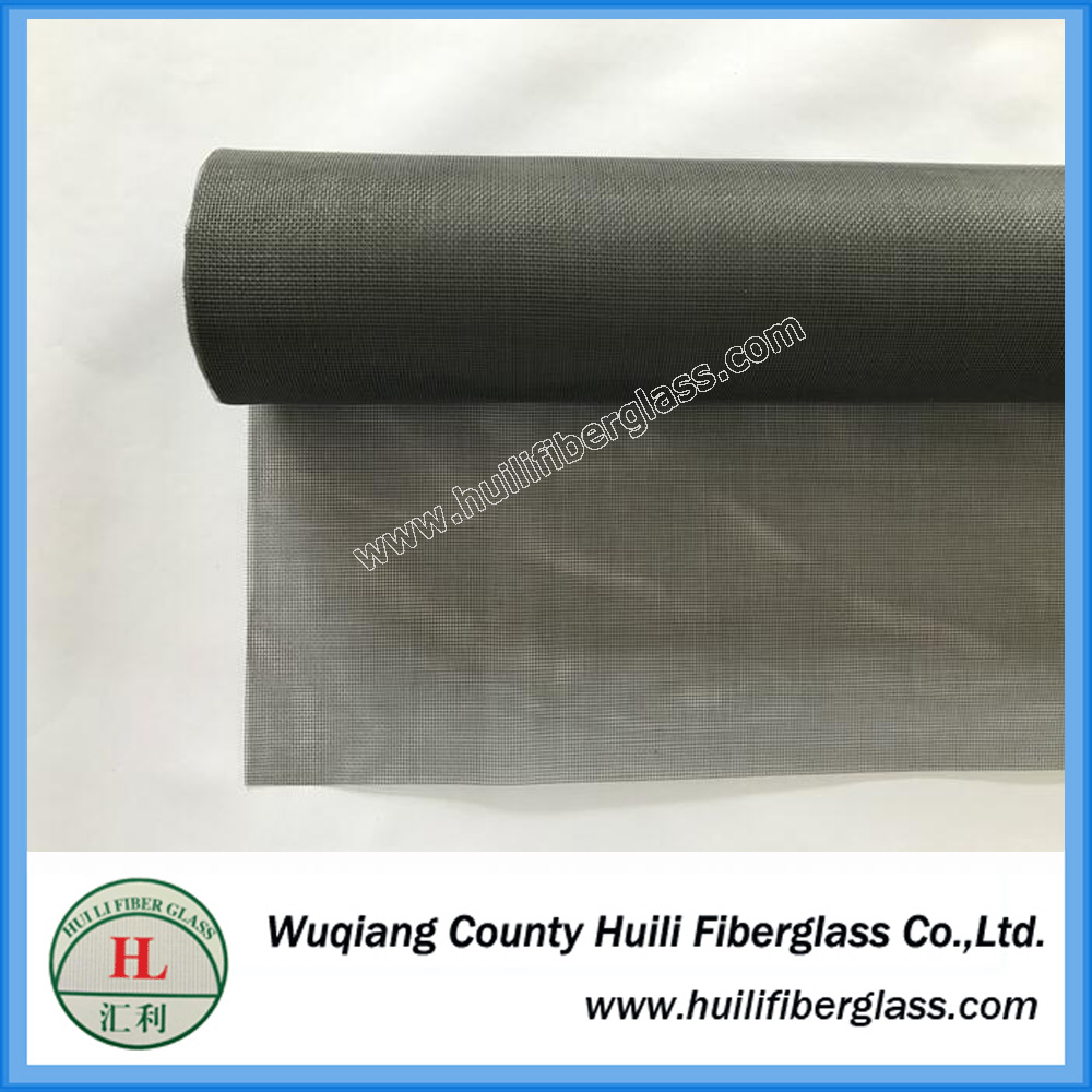 1m x 30m roll gray pvc coated fiber glass anti mosquito net for window