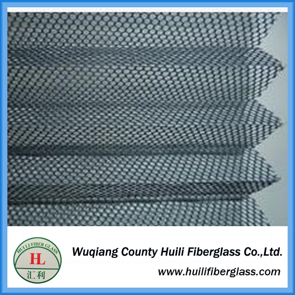 2017 High Quality Retractable Fiberglass Window Screen/Plisse/Pleated Window mesh//floding insect netting