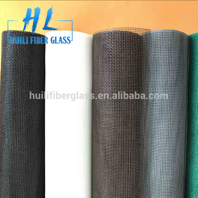 20*20 charcoal 1m*300m/roll fiberglass insect screen for window and doors