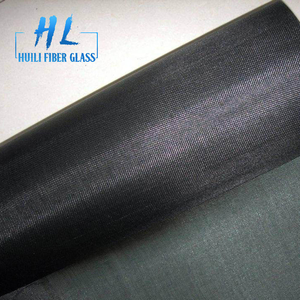 20×20 black pvc coated fiberglass window screen