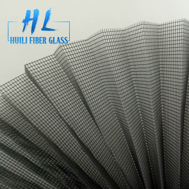 80 Gsm Polyester Pleated Mesh Folding Window Screen For Sliding Window And Doors