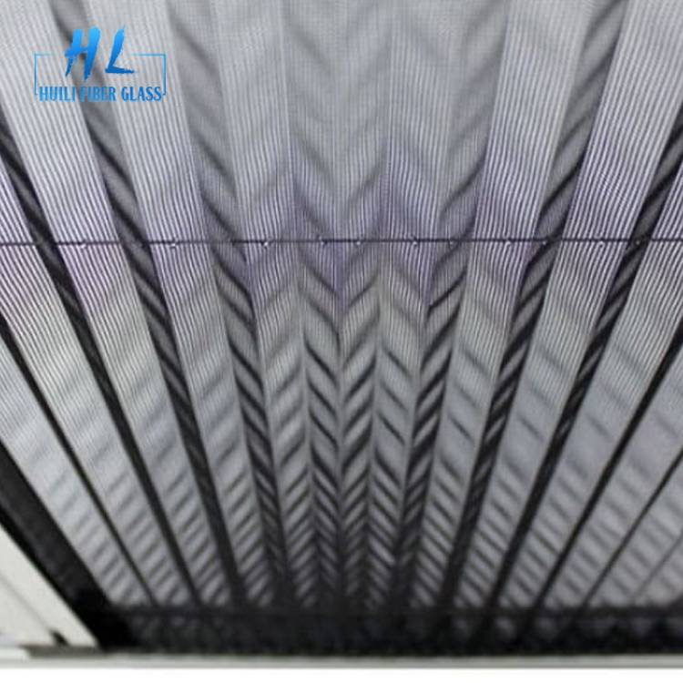 2.0m x 30m Grey Polyester Pleated Mesh For Sliding Window