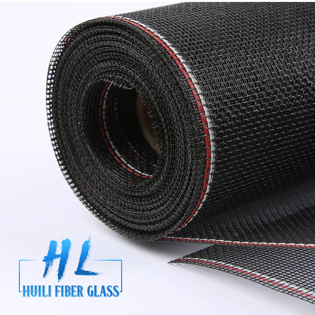 HuiLi Brand 20*20 20*22 Charcoal Color Fiberglass Window Screen For Windows