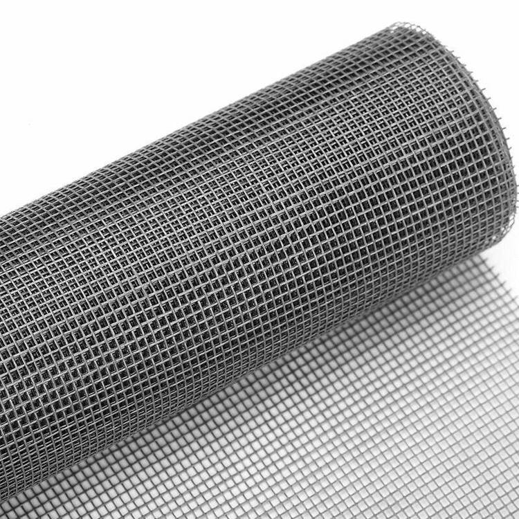 Grey color 17×14 100gsm black fiberglass window screen