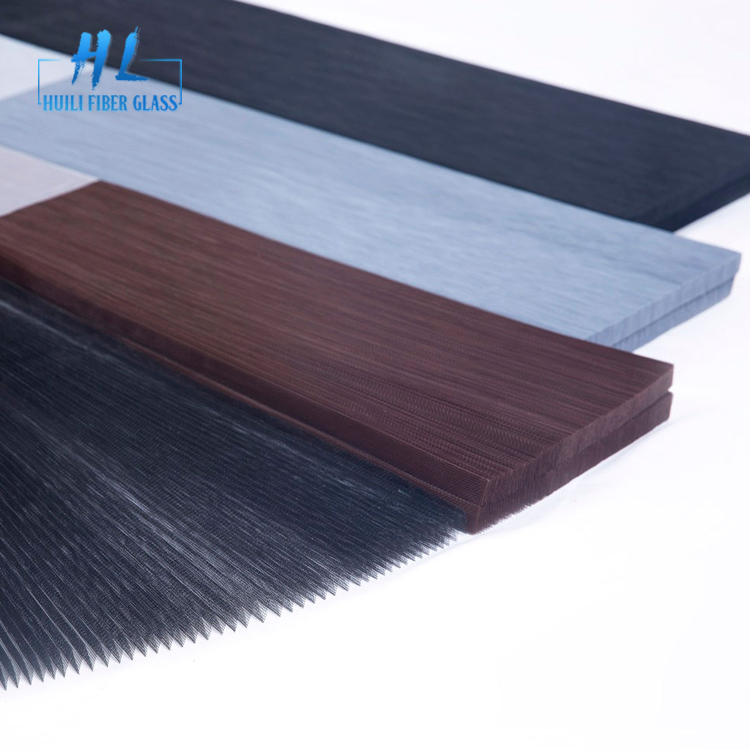 Black PP material pleated insect screen mesh