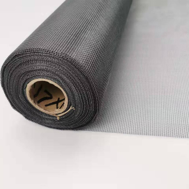 Charcoal black fiberglass window screen mosquito netting