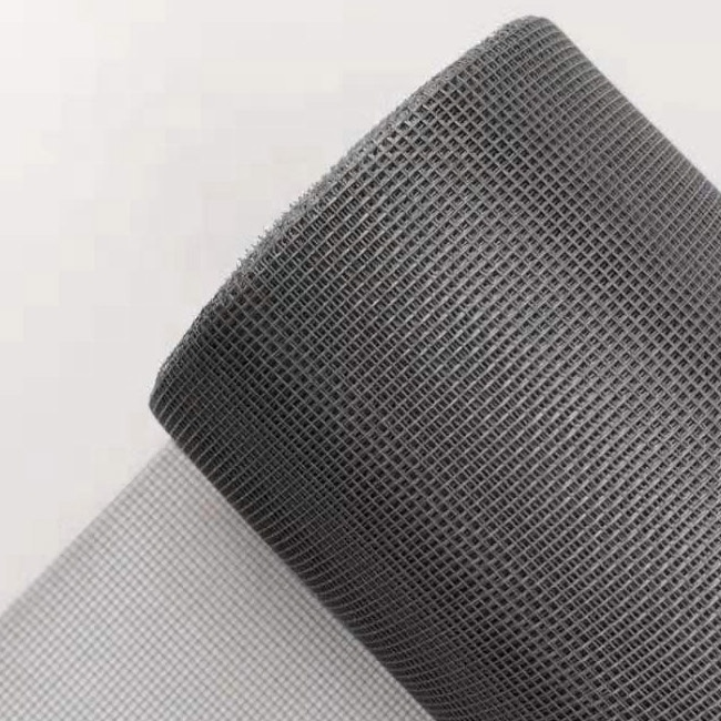 HuiLi/Black And Grey Color Anti Mosquito Fiberglass Woven Insect Screen Mesh