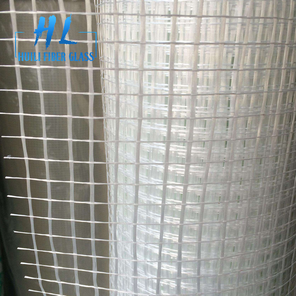 90g 10x10mm white fiberglass mesh for building material