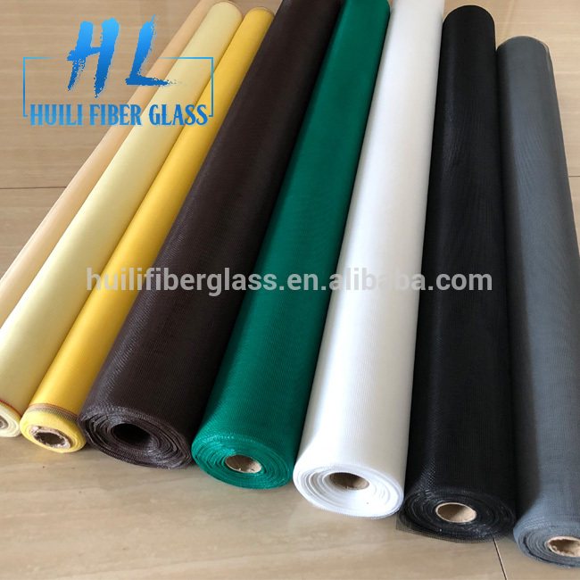 18*16 pvc coated colored anti mosquito netting / nylon window insect screen / fiberglass fly screen with high quality
