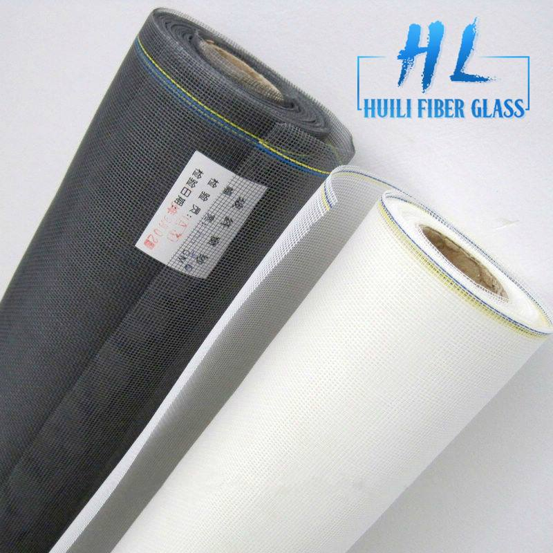 Invisible vision Fiberglass window screen PVC coated unbreakable fiberglass insect screen