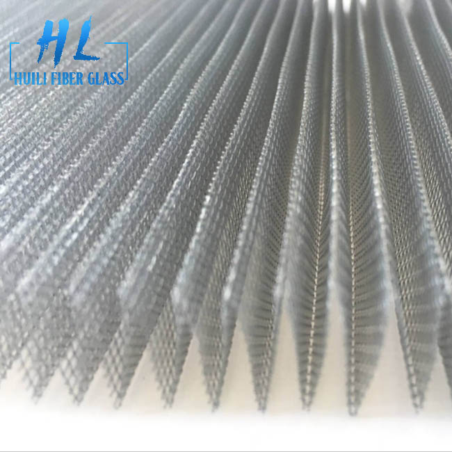 Fiberglass Pleated Mosquito Screen Mesh for Window and Door