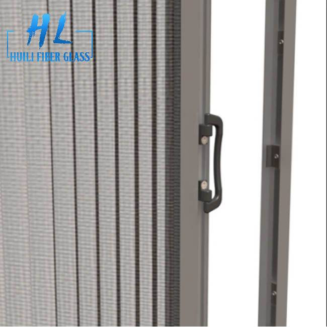 pleated mesh folding screen door, polyester screen mesh for window and door Featured Image