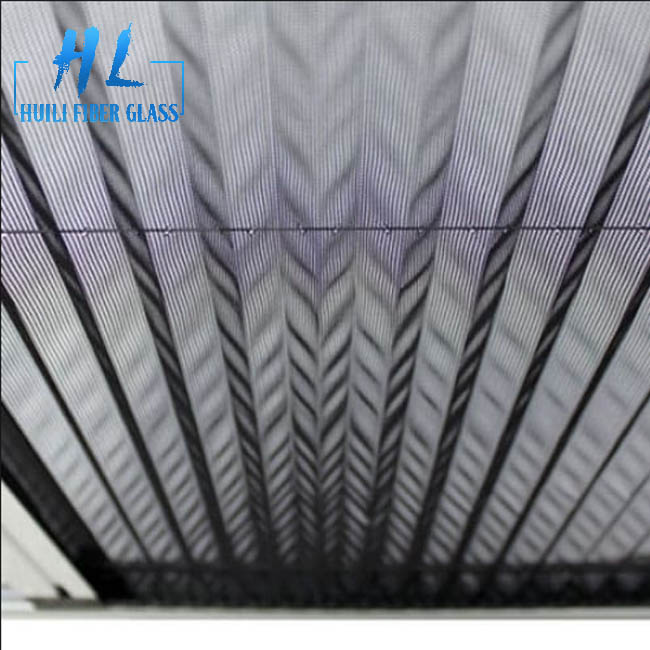 pleated mesh folding screen door, polyester screen mesh for window and door