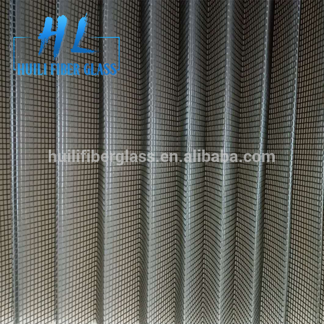 16mm Mosquito Waterproof Plisse Insect Screen Polyester Pleated mesh