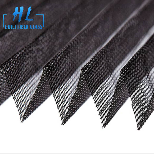 plisse insect screen pleated insect screen mesh in fiberglass polyester PET material