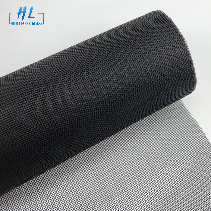 17×15 black fiberglass mesh mosquito screen roll with 1.6m x 30m