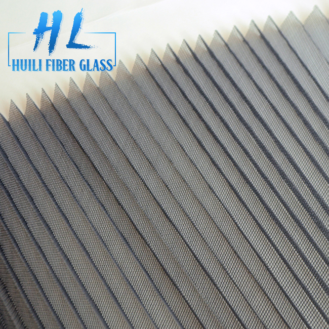 16mm 18mm PP Polyester pleated Mesh Plisse Door Mesh