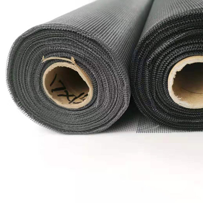 Black grey white brown color fiberglass insect screen mesh