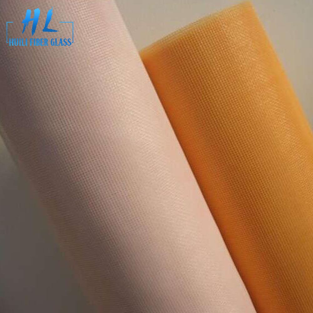 Yellow color 110g fiberglass insect screen with colorful line