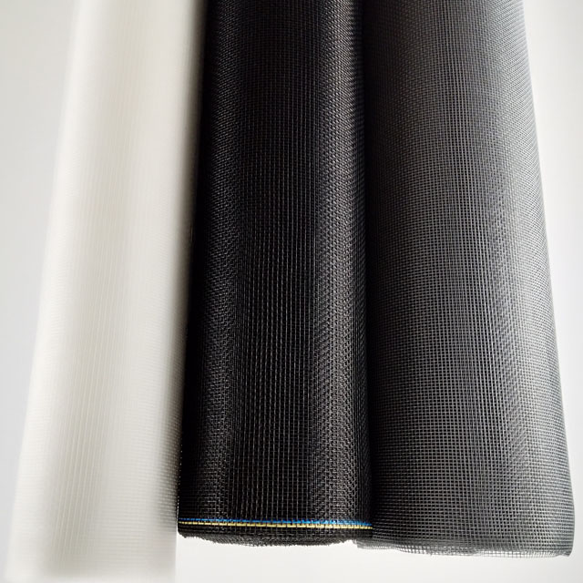 Grey black flexible pvc coated woven fiberglass insect mesh screen