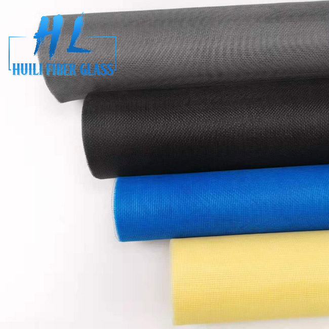 18*16 Mesh 120G Fiberglass Window Screen With Yellow and Grey Colors