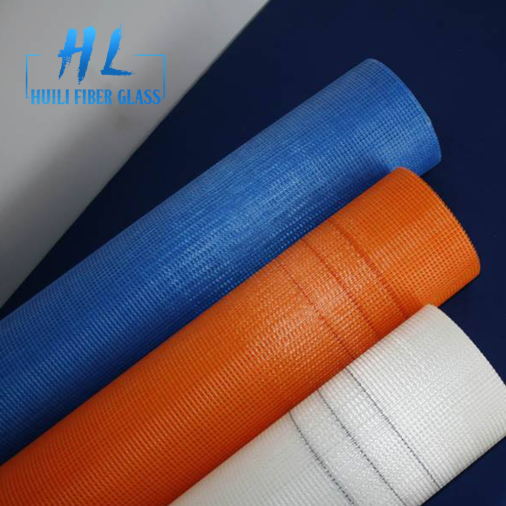 plain woven 160g 4×4 orange color heat insulation fiberglass mesh