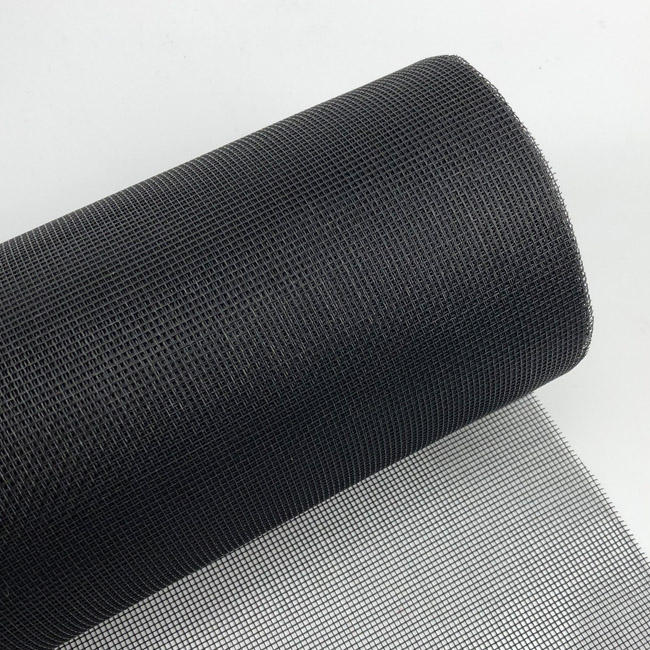 High tensile strength black color patio and pool fiberglass screen