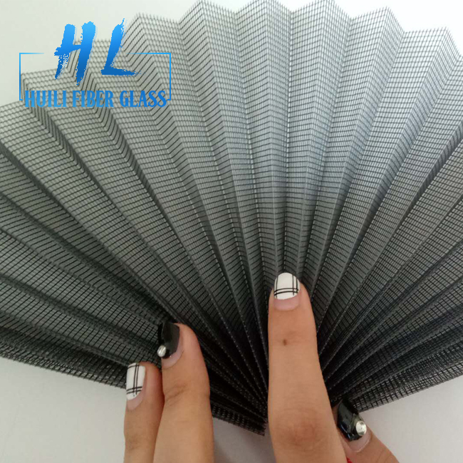 18mm Mosquito Waterproof Plisse Insect Screen Polyester Pleated Mesh