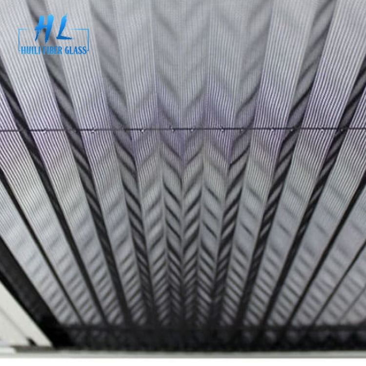 Mosquito Plisse Insect Screen Polyester Pleated Mesh Folding Net