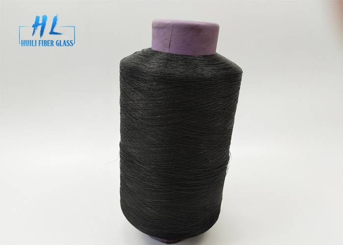 Black color PVC Coated Fiberglass Yarn with Low price Featured Image