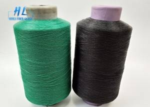 Black color PVC Coated Fiberglass Yarn with Low price