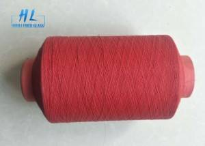 Red and white color PVC Coated Fiberglass Yarn 89tex with Low price
