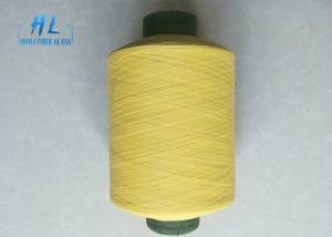 Yellow color PVC Coated Fiberglass Yarn 0.28mm 89tex from Huili factory