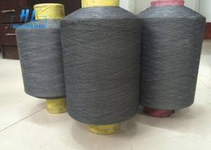 Black Grey PVC Coated Fiberglass Yarn For Weaving Fiberglass Mosquito Net