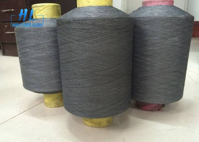 Black Grey PVC Coated Fiberglass Yarn For Weaving Fiberglass Mosquito Net Featured Image