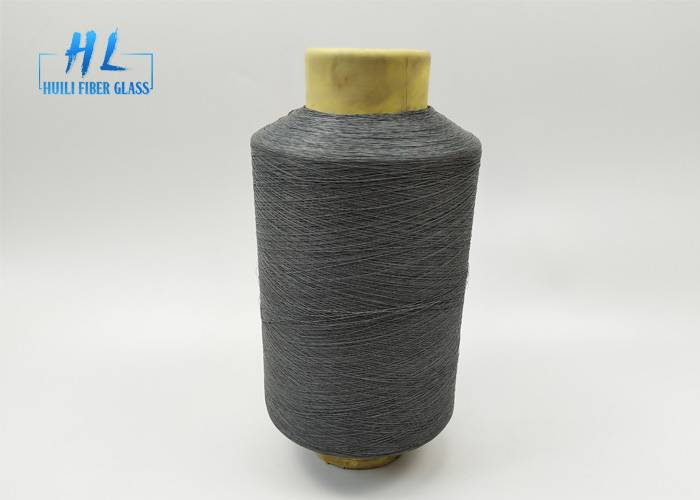 PVC Coated Fiberglass Yarn 0.28mm grey color with best quality Featured Image
