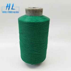 Flame retardant PVC Coated Fiberglass Yarn 89tex with grey color