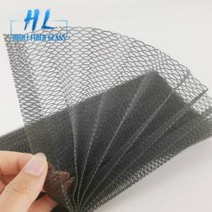 Pleated Sliding Mesh Polyester Mosquito Net for window and door
