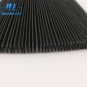 Polyester pleated screen mesh 16mm black color from Huili factory