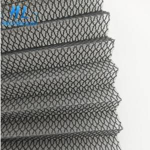 Fiberglass pleated screen mesh 16mm with grey color 100g/m2 used for doors